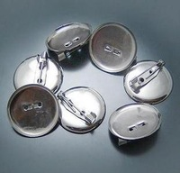 30 diy seamline pin buckle silver disc sew-on