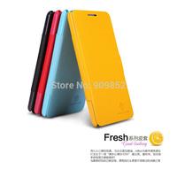 Case For Lenovo P780,Original Nillkin Fresh Series leather flip case For Lenovo P780 + retail +MOQ 1pcs +Free Shipping