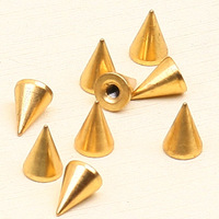 30 diy clothing baoxie punk copper gold spike bullet 1cm rivet rivets
