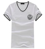 free shipping men's new 100% cotton brand t shirt , new 2014 men's short sleeve t-shirt , fashion summer dress 16
