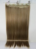 "New One 24"" Synthetic Fiber 130g 6Clips On Cap Wig Pure More Hair Colors Straight Hair  # 27/ 613"