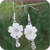 OMH wholesale 12pair OFF 45%= $0.4/pair EH13 accessories sparkling crystal heart flower star earrings 7g