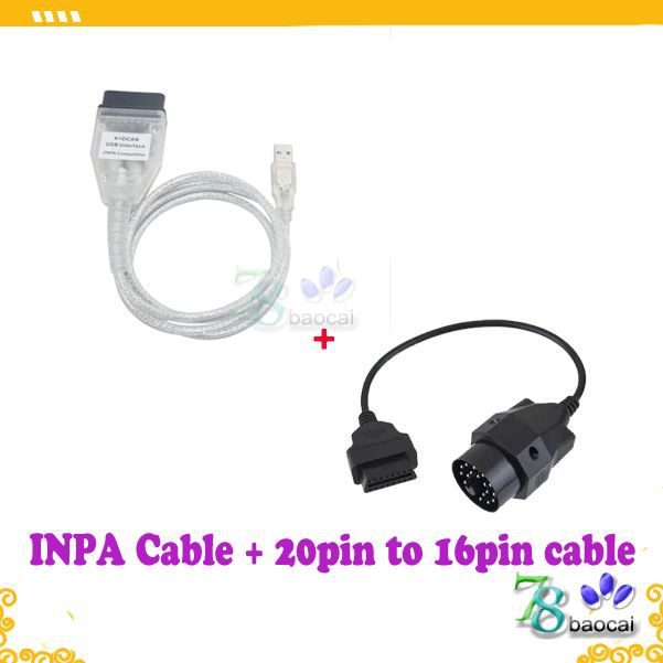 For B M W INPA K DCAN CABLE USB Interface K DCAN Connector add 20pin to