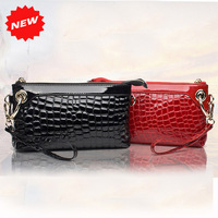 New 2014 Fashion American & Europe Style Genuine Cow Leather Handbags Women Alligator Pattern Clutch Evening Party Bag,CN-1369
