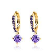 Fashion new Circle CZ Earrings genuine zircon jewelry earrings for women