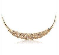 CN46 Luxury Czech drilling elegant waltz female short clavicle Chain Necklace  Y330-5 50D