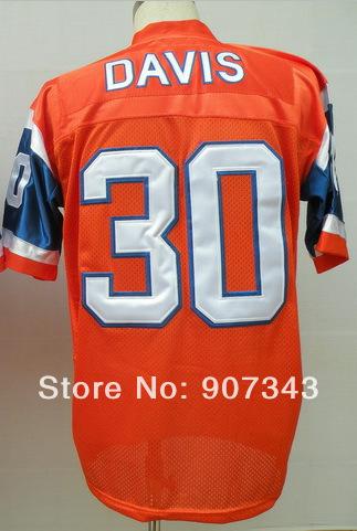 #30 Terrell Davis Jersey,Throwback Football Jersey,Sport Jersey,Size M--XXXL,Accept Mix Order(China (Mainland))