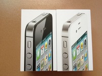 5pcst/lot Free shipping High Quality US/UK/EU Version Phone Packaging Box For iPhone4 iPhone4S Without  Accessories