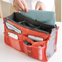 8 Color Lady's Mp3 Phone organizer bag multi functional cosmetic storage Makeup bags women Travel bag insert with pockets L09028
