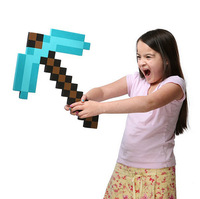 1Pc/Lot Minecraft Blue/Gray/Gold Diamond Foam EVA Pickaxe/Hammer Toy Great Mosic Toy Gift For Kids Free Drop Shipping