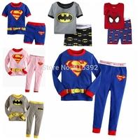 Batman& Superman Pajamas/ Short & long sleeve Super Man Sleepwear Set/ Super Man Summer Underwear Basic Shirt/Boys Pajama