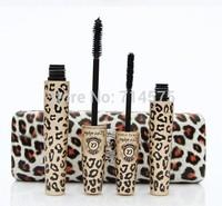 2014 2 Sets=4PCS /Lot  New Love Alpha Brand Waterproof Mascara with Partner Leopard Package  1Set =2Pcs Makeup