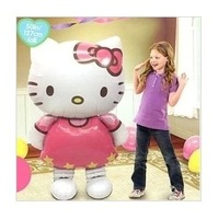 2014 New arrival Hello Kitty Helium Birthday Party Decoration Inflatable Gift Baby Toys116X68CM Foil Balloons Free Shipping