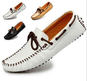 2014 Натуральная кожа Sneakers Mens Повседневный Shoes Cowhide Driving Moccasins ...