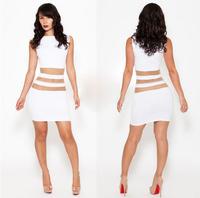 2014 New Fashion Sexy White Summer Dress Party Dresses Casual Bandage Dress Plus Size Women Dresses Saias Femininas Vestido