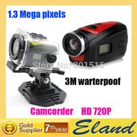 waterproof camera F22 sport video camera 720p HD free shipping