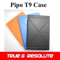 Original Fashion Pipo T9 Case Solid 8.9'' MTK6592 Octa Core Talk 3G Tablet PC Clear-water Leather Case Black/Blue/Orange Color