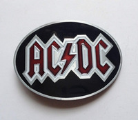 ACDC belt buckle with pewter finish SW-B1088 suitable for 4cm wideth belt with continous stock free shipping