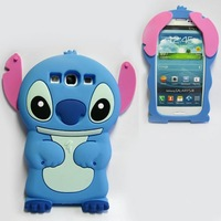 Stitch Series 3D Silicone Protective Case for Samsung Galaxy S3 9300 N7100 8190 for iphone 4/5 phone case Shock