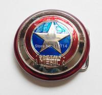 New Western Superhero Captain America Shield Classic Men's Metal Belt Buckle