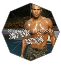 Personalizado sexy modelo e estrelas moive shemar moore imagem para impresso auto guarda-chuva dobrável! Venda quente! Frete grátis(China (Mainland))