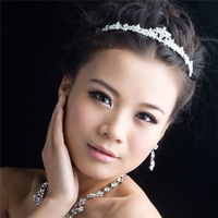 Bride Rhinestone Crystal Bridal Hair Crown Wedding Tiara Jewelry Accessories HJ015