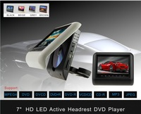 """7"""" Car Clip on / Detachable / Active car rearseat Headrest digital DVD Player with IR FM USB SD Game w/o pillow"""