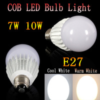 5PC/LOT Super Bright Lights 7W 10W  Led Spotlight 120 Angle  85-265V CE ROHS Led COB Bulbs Light E27 Warm White/Cool White