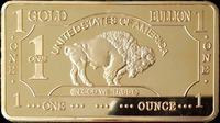 (lucya025)2014 New Items50pcs/Lot Free shippingDHL and Hot sale1 OZ OUNCE 24k GOLD Plating American BUFFALO 500MILLS BULLION BAR