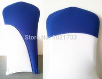 chair hood for weddings,spandex chair cover fit all chairs,dark blue colour,220Grams high quality