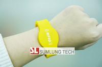 10pcs/Lot silicon ID wristbands EM4100/TK4100 chip, 125Khz access control, 10 colors, size adjustable rfid bracelets