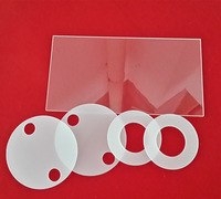 factory processing quartz glass flange/frosted/transparent quartz glass flange industry measurements/instruments
