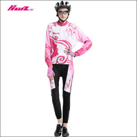 Long-sleeve ride service set Women bicycle mountain bike quick dry perspicuousness ride
