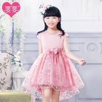 6- 15 Years 2014 YY vestidos de bebe Brand Chiffon Summer Dress kids infant clothing Cotton Mini Girl Birthday Dress 817