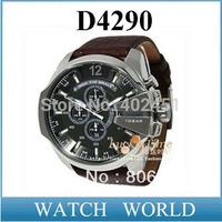 HHK post Free shipping hot sale men's fashion leather watch DZ4290 Quartz Watch Wristwatches+original box+logo