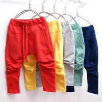Boys Pants Girls Pants Baby Kids Solid Cotton Long Trousers ,Free Shipping K2262
