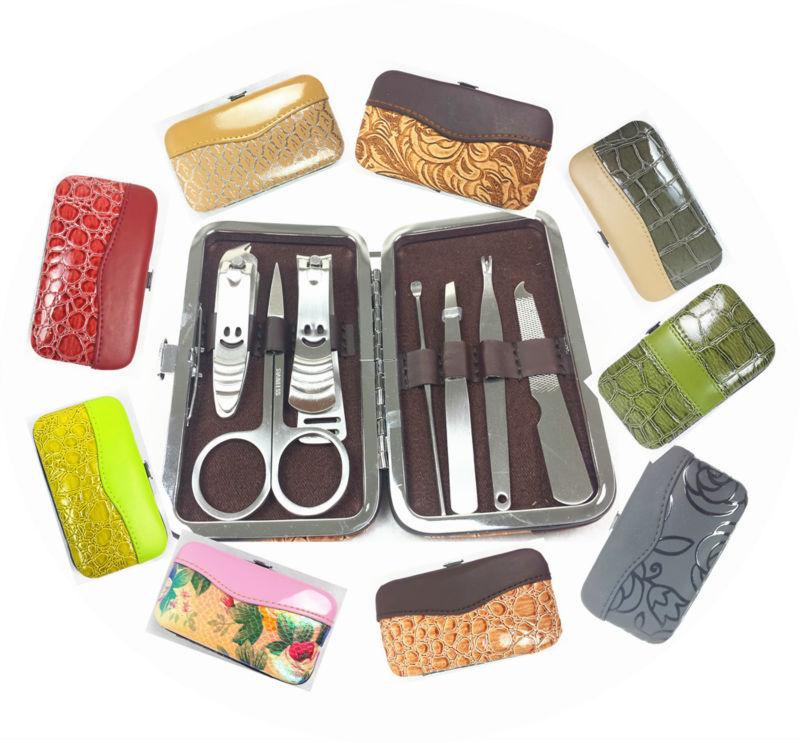 10 colori, 7 in 1 kit per unghie clipper, utilità in acciaio inox set per la cura delle unghie, set manicure professionale strumenti come un dono, spedizione gratuita