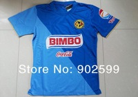 New arrival 14/15 Mexico Club America 3rd away blue ss best quality player version soccer football jersey shirt