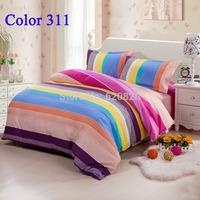 Home decor Queen King size Bedding sets bedrooms Comfortor Set Bedding Set stripe Bed Sheet Duvet cover set  Freely color311