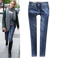 Three-dimensional cut 2014 spring denim elastic pencil pants female trousers butt-lifting boot cut jeans skinny pants