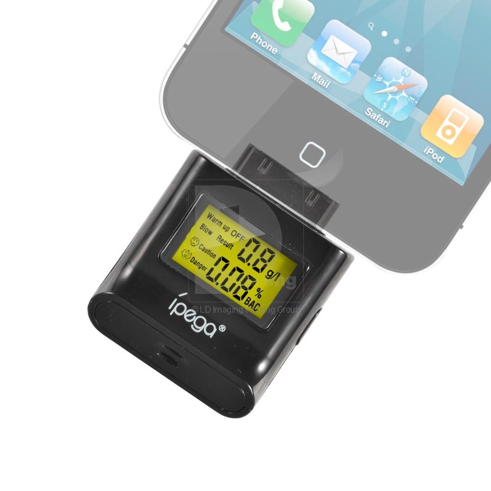 Hot Ipega Digital Alcohol Tester color backlight screen for Phone4 4S Pad Pod 016068 Free Shipping(China (Mainland))