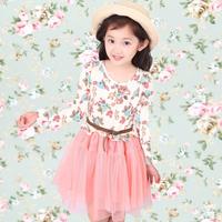 Free Shipping 2014 Summer children's clothing Girls one-piece Dress baby yarn princess dress Kids Dress