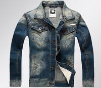 High Quality 2014 Spring Autumn Men's Denim Outerwear Casual Vintage Denim Jacket Coats