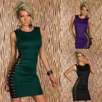 ML17980 Free Shipping Hot Sale 100% New Brand Spring Fashion Women Celeb Bodycon Dress Sexy Club Bandage Dress 2014