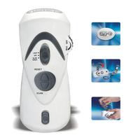 DK-37-8 LED Torch 1pc New version 2014 FM radio Mini speaker flashlight Portable Torches radio receiver manual power generation