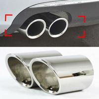 Chrome Exhaust Muffler Tip Pipe tail throat 2pcs/set For 2011 2012 VOLKSWAGEN VW Jetta 6 MK6 1.4t Skoda Octavia