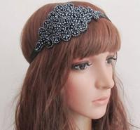 holesale retail charming Fshion handmade beads sewing handmade Elastic headband party hari accessories