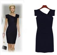 Plus Size:S-XL Pink,Dark Blue Free Shipping Guaranteed 100% 2014 New Fashion Summer Women's Corn Lattice Brand Designer Dresses