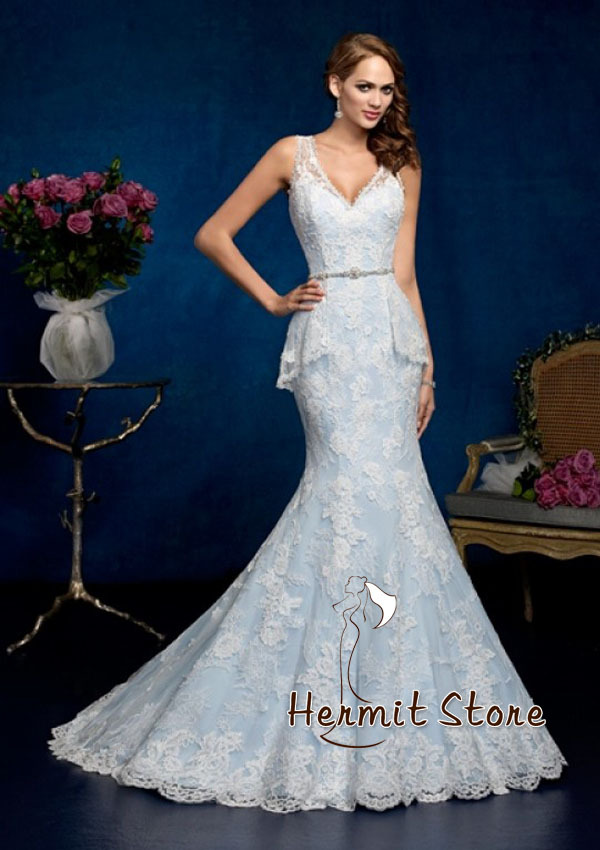 Sky Blue Wedding Dresses