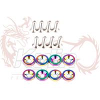 KYLIN STORE - EA010 - Password:JDM Fender Washers  neo chrome 1set=8pcs washers and bolt